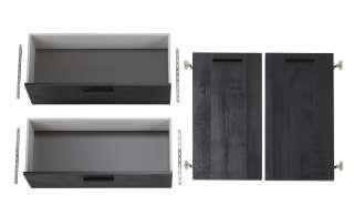 Türen- und Schubkasten Set  Dahme ¦ schwarz ¦ Maße (cm): B: 74,9 H: 104,07 T: 1,6 Sonstiges Zubehör - Höffner