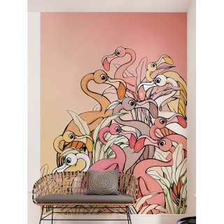 home24 Vlies Fototapete Flamingos and Lillys