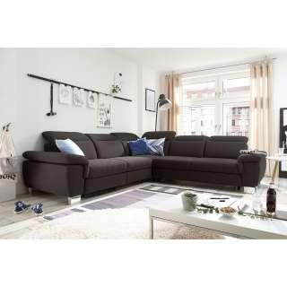 Wohnzimmervitrinenschrank in Weiß Hochglanz 180 cm hoch