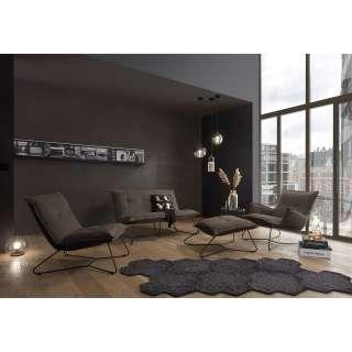 Wohnzimmervitrine mit Eiche Furnier und Weiß 120 cm breit