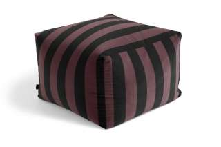HAY - Pouf Soft Stripe Sitzpouf - burgundy - indoor