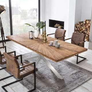 Holzkommode mit sieben Schubladen Sheesham Massivholz