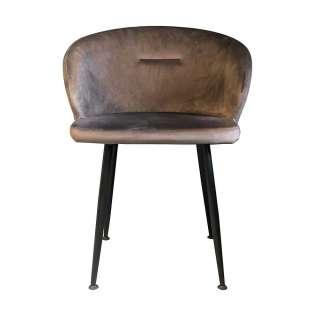 Designeresstisch aus Recyclingholz Eisen Wangengestell