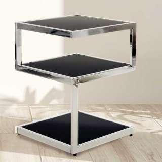 Design Beistelltisch aus Aluminium Säulengestell