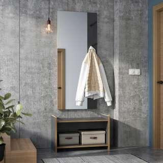 Flur Garderobe in Anthrazit und Eiche Optik Made in Germany (2-teilig)