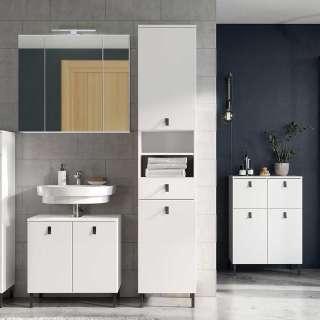 Badezimmermöbel Set in Weiß 175 cm breit (4-teilig)