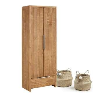 Garderobenschrank aus Kiefer Massivholz 180 cm hoch