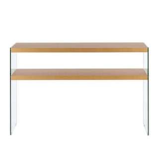 Konsolen Tisch in Goldfarben MDF und Glas