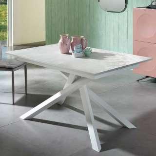 Esszimmer Tisch in Creme Weiß ausziehbar