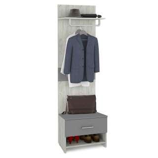 Garderobe in Grau und Weißeiche modern