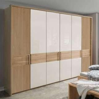 Garderobe in Beton Grau Kiefer Massivholz