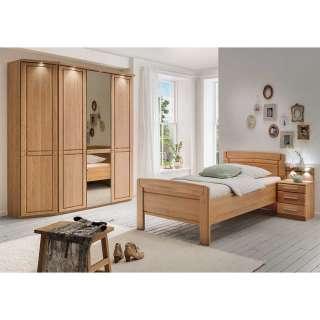 Einzel Schlafzimmer Set aus Eiche teilmassiv Made in Germany (3-teilig)