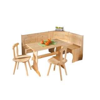 Esszimmer Sitzecke im rustikalen Landhausstil Kiefer Massivholz (4-teilig)