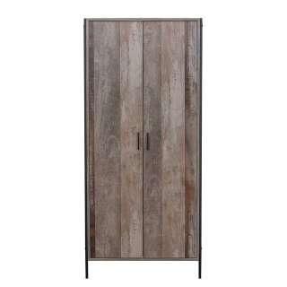 Garderobenschrank in Treibholz Optik 80 cm breit