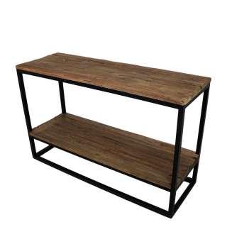 Flur Tisch aus Teak Recyclingholz und Eisen 120 cm breit