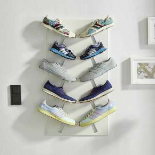 Schuh Wandregal in Weiß modern