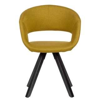 Küchenstühle in Gelb Webstoff 45 cm Sitzhöhe
