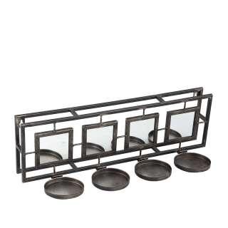 Kerzenständer aus Spiegelglas und Metall 50 cm breit