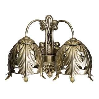 Design Wandlampe in Altgoldfarben Vintage Style