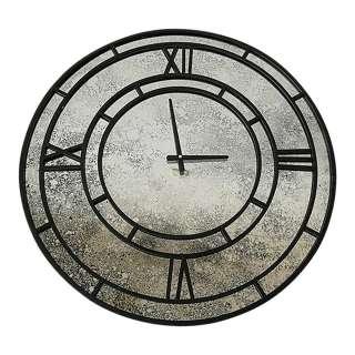 Runde Uhr in Schwarz und Grau Wandmontage