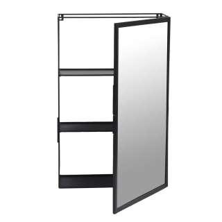 Badezimmer Spiegelschrank in Schwarz 35 cm breit