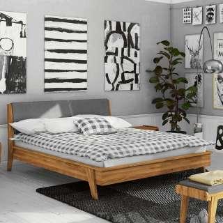 Esszimmertisch aus Wildeiche Massivholz Bügelgestell aus Eisen