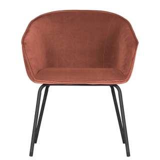 Esszimmer Stühle in Rot Samt Retrostil (2er Set)