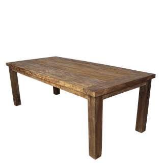 Armlehnenstuhl Set aus Teak Massivholz Metall in Schwarz (2er Set)