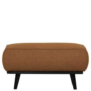 Couchhocker in Bernsteinfarben Stoff 40 cm hoch