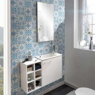 Design Wohnzimmervitrine in Petrol und Eichefarben Skandi Design