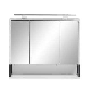 Badspiegelschrank in Weiß und Anthrazit 70 cm breit