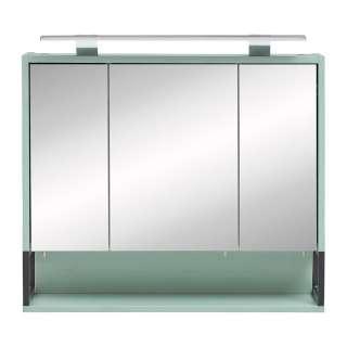Badezimmer Spiegelschrank in Mintgrün 70 cm breit