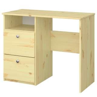 Wohnzimmer Schrank im Skandi Design zwei Schubladen in Weiß