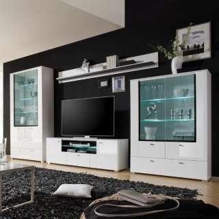 TV Phonoschrank im Landhaustil Weiß Braun Pinie massiv