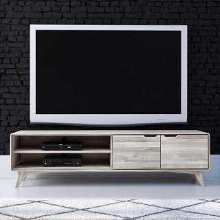 Fernsehboard aus Wildeiche massiv gebleicht und geölt 180 cm breit