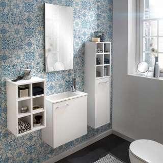 Badezimmermöbel Set in Weiß Wandmontage (4-teilig)