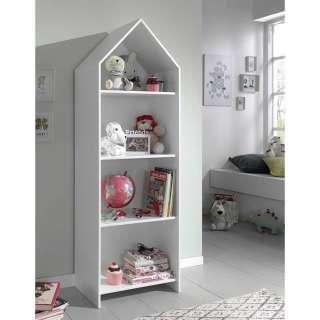 Kinderzimmer Regal in Weiß Haus Optik