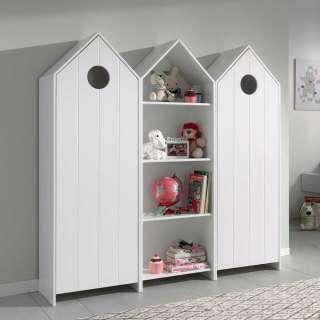 Kindermöbel Set in Weiß Haus Optik (3-teilig)