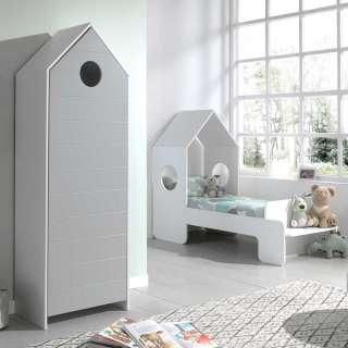 Kinderzimmer Set in Weiß und Grau Haus Optik (2-teilig)