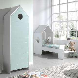 Kinderzimmerset in Weiß und Mintgrün Haus Optik (2-teilig)