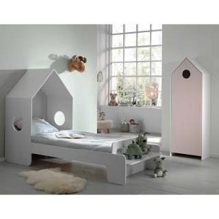Mädchenzimmer in Weiß und Rosa Haus Optik (2-teilig)