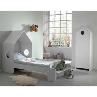 Kinderzimmerset in Weiß Haus Optik (2-teilig)