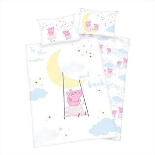 home24 Kinderbettwäsche Peppa Pig
