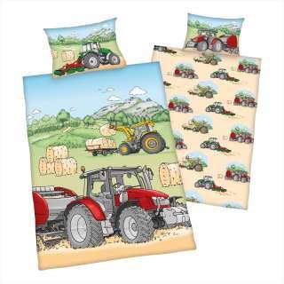 home24 Kinderbettwäsche Traktor