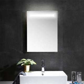 Bad Wandspiegel in Anthrazit LED Beleuchtung