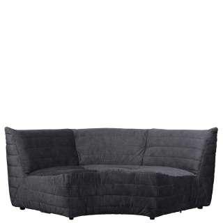 Samt Couch in Anthrazit 200 cm breit