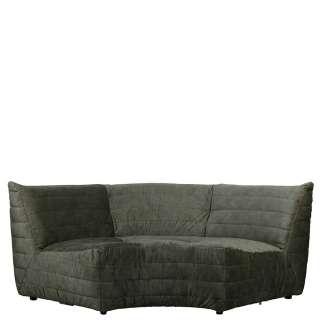 Design Sofa in Dunkelgrün Samt 200 cm breit