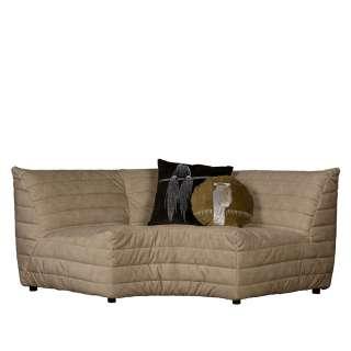 Couch in Beige Samt 45 cm Sitzhöhe