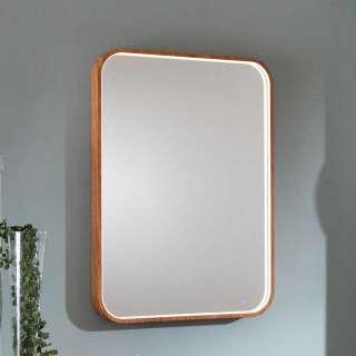 Retro Wandspiegel in Holz Naturfarben 60 cm breit