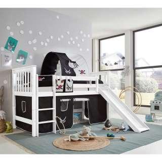 Kinderzimmer Spielbett im Piraten Design Rutsche und Tunnel